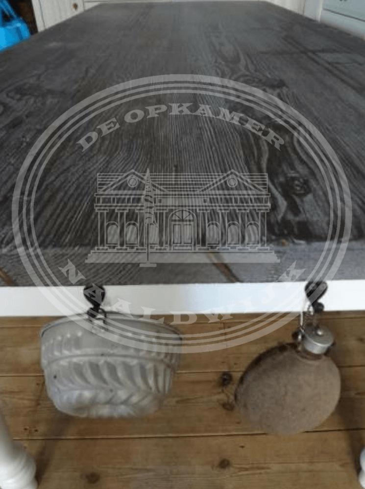 Brocante Witte Eetkamertafel.Landelijke Eettafels