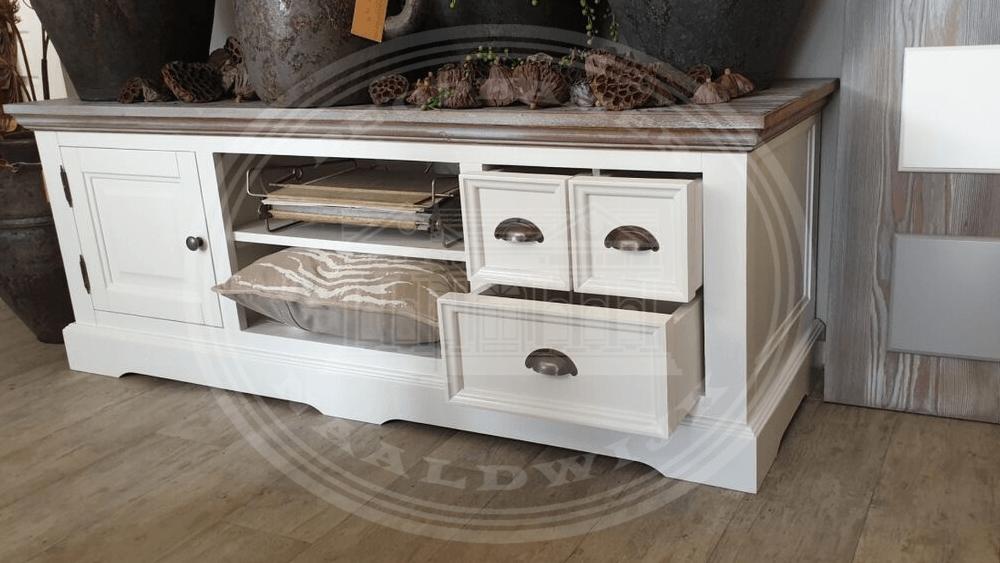 Brocant Landelijke Tv Kast.Driftwood Cabinets Tables Wit 9010 Atelier De Brocante Opkamer B V