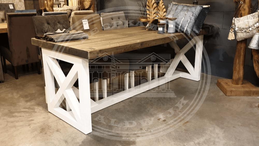 Sensational Landelijke Chateau Dining Cross Tables Atelier De Brocante Ncnpc Chair Design For Home Ncnpcorg