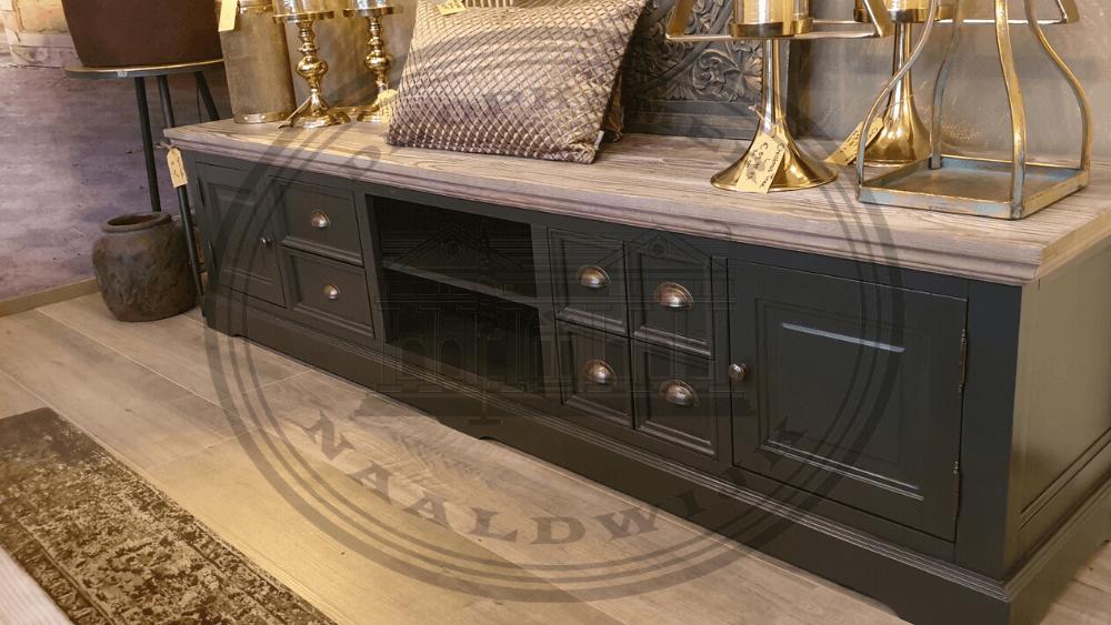 Brocante Tv Meubel.Driftwood Cabinets Tables Antraciet Atelier De Brocante